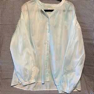 Gap Double Button Band Collar Tie Dye Shirt